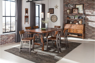 HOLVERSON 7PC COUNTER HEIGHT DINING SET
