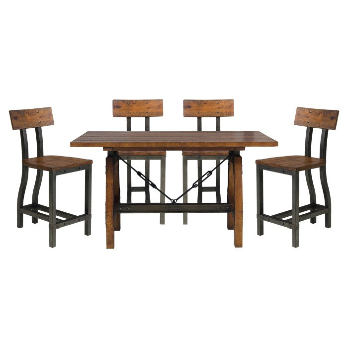 HOLVERSON 5PC COUNTER HEIGHT DINING SET