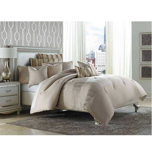 CAPTIVA 10PC KING COMFORTER SET NATURAL