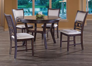 GIA ROUND 5PC DINING SET -CHERRY