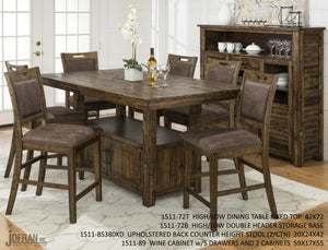 CANNON VALLEY 7PC COUNTER HEIGHT DINING SET
