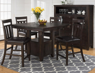 KONA GROVE 5PC COUNTER HEIGHT DINING SET