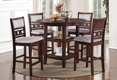 GIA COUNTER 5PC DINING SET -CHERRY
