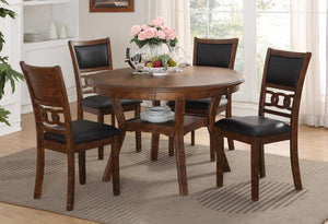 GIA ROUND 5PC DINING SET -BROWN