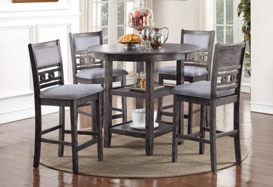 GIA COUNTER 5PC DINING SET -GRAY