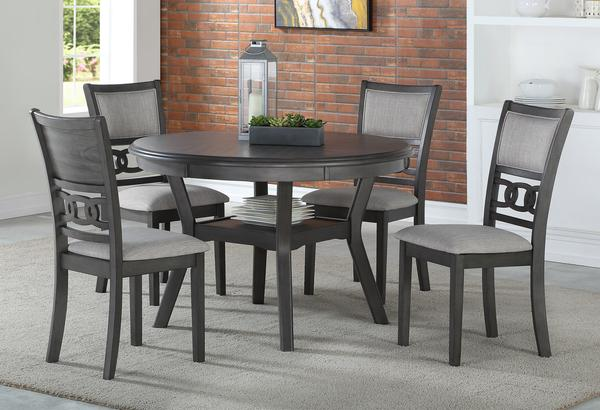 GIA ROUND 5PC DINING SET -GRAY
