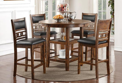 GIA COUNTER 5PC DINING SET -BROWN