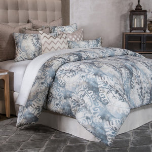 MIRAMAR 10PC KING COMFORTER SET SMOKE