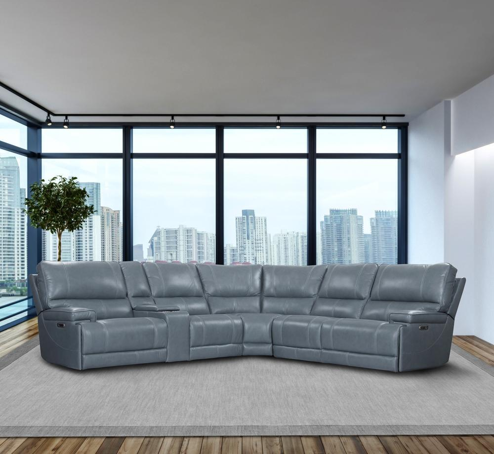 WHITMAN - VERONA AZURE - Powered By FreeMotion 6pc SECTIONAL