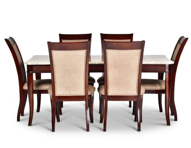 MARSEILLE 5 PIECE MARBLE DINING SET