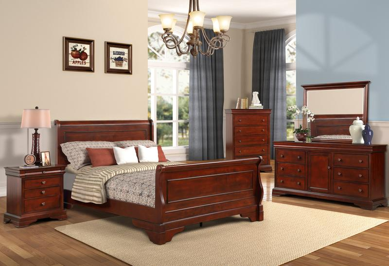 VERSAILLES 4PC QUEEN BEDROOM SET