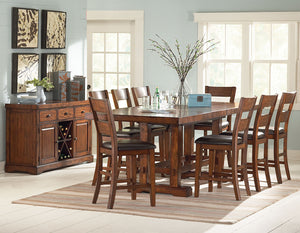 ZAPPA 9 PIECE COUNTER HEIGHT DINING SET