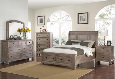 ALLEGRA PEWTER 4PC QUEEN BEDROOM SET