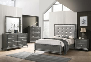 PARK IMPERIAL 4PC QUEEN BEDROOM PEWTER