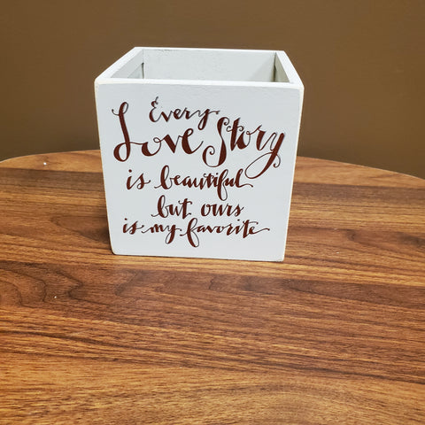 Every Love Story Votive Candle Holder