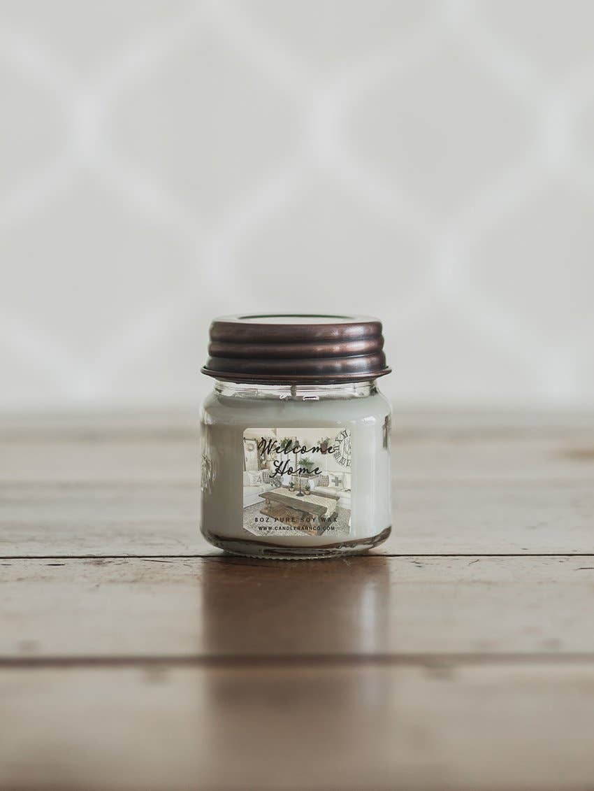 8oz Welcome Home Mason Jar Soy Candles