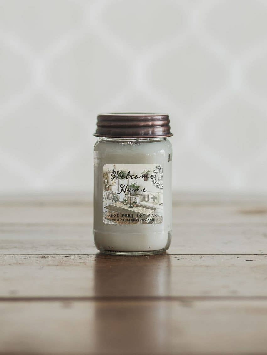 16oz Welcome Home Mason Jar Soy Candles