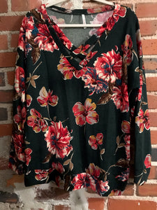 Hunter Floral Cross Top