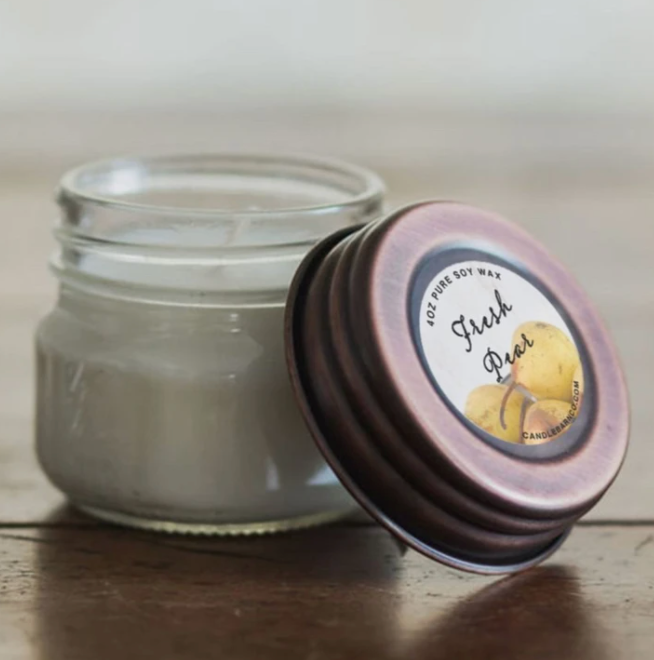 4oz Fresh Pear Mason Jar Candle