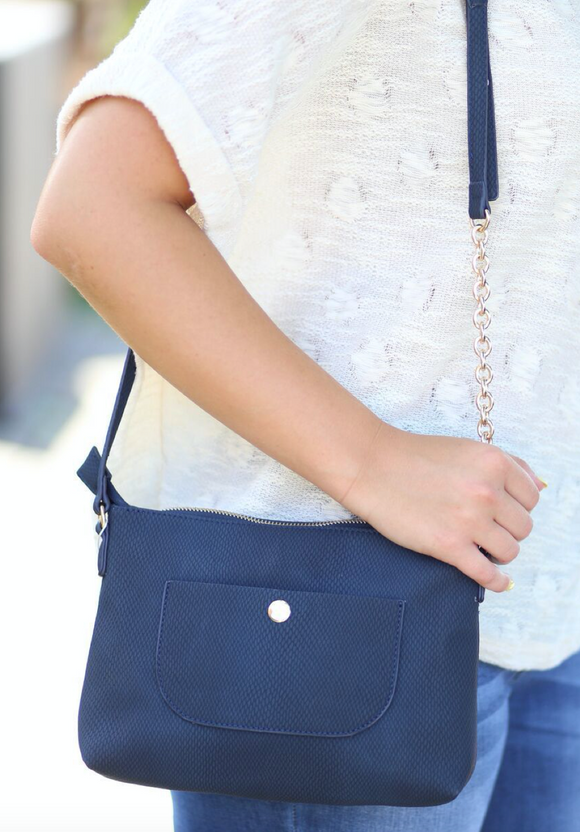 Crossbody With Snap Pocket
