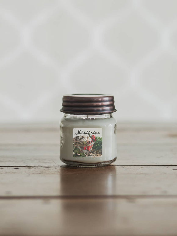 8oz Mistletoe Mason Jar Soy Candles