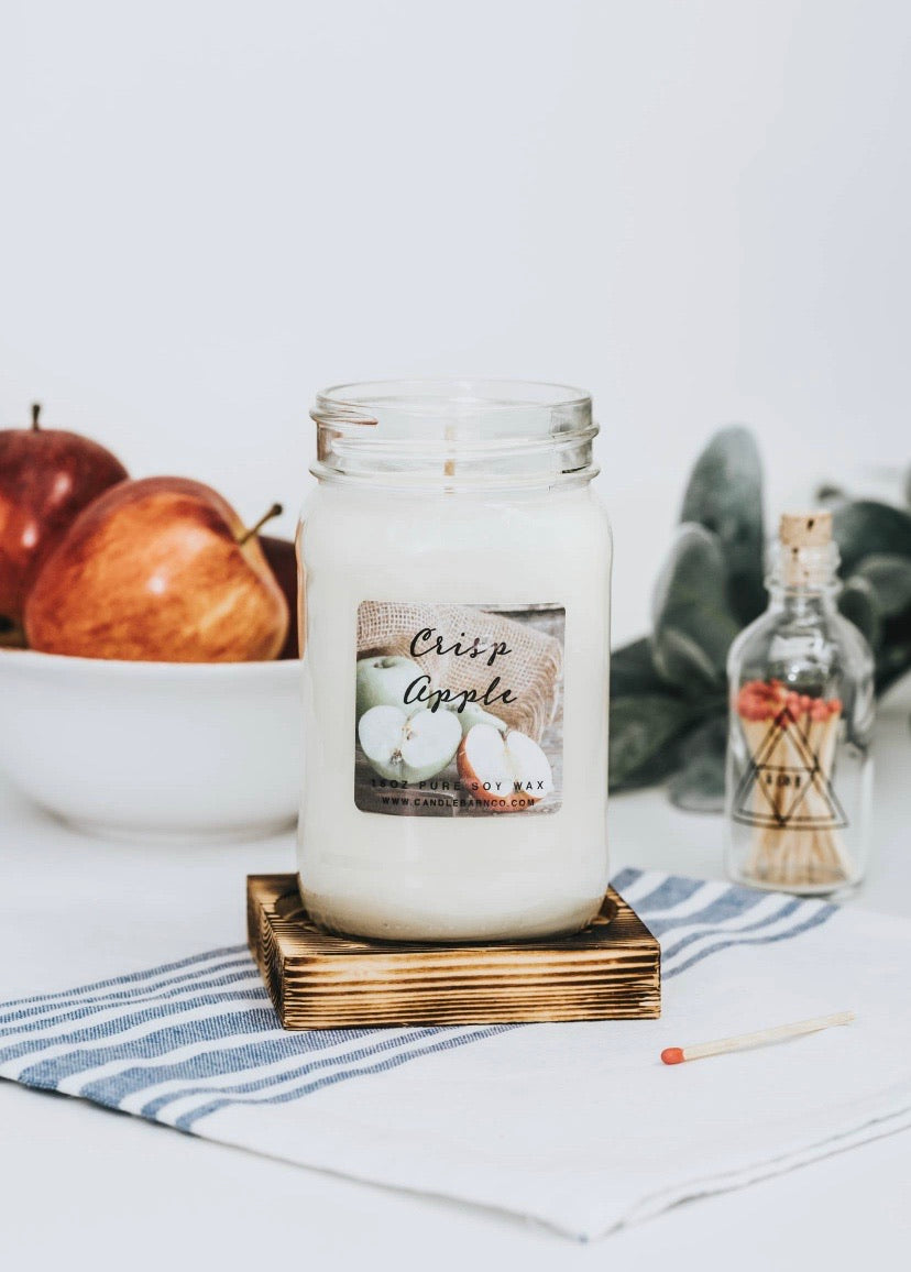 16oz Crisp Apple Mason Jar Soy Candles