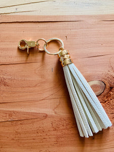 White Tassel Key Ring
