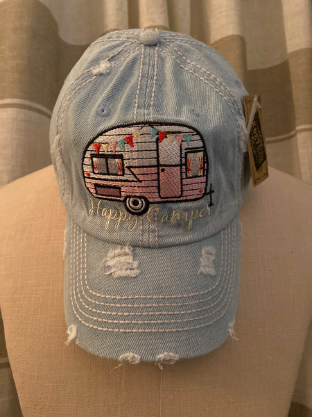 Happy Camper Vintage Hat