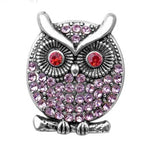 Broche hibou antique rose