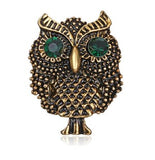 Broche hibou bronze antique vintage