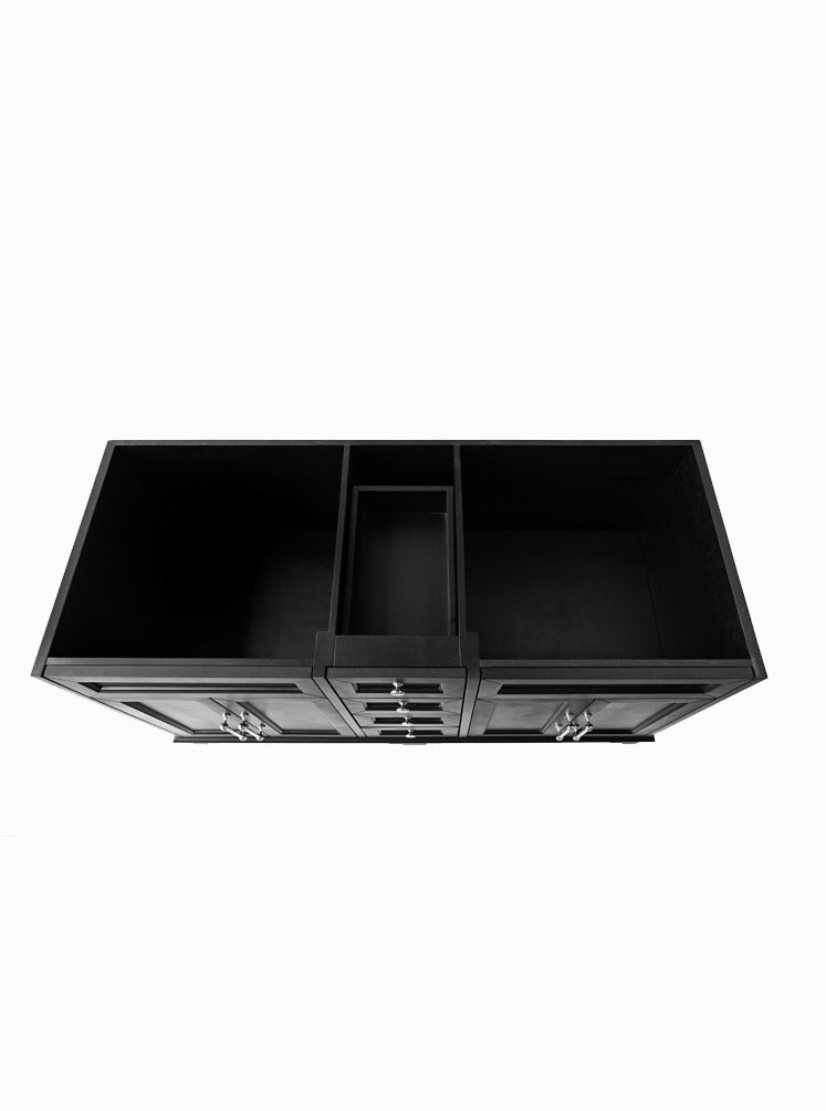 Chantel 1500 Double Black Cabinet