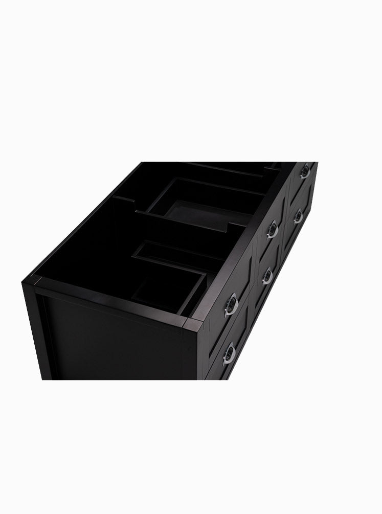 North Haven 1500 Double Black Cabinet