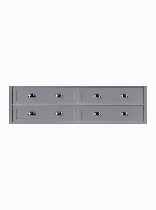North Haven 1800 Double Grey Garden Cabinet