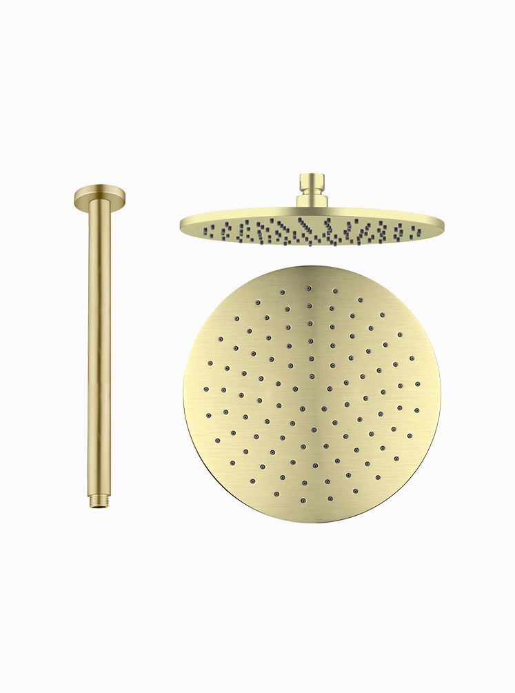NOVA ROUND SHOWER ROOF ARM AND ROSE