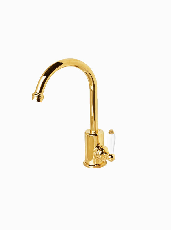 Federation basin mixer porcelain handle