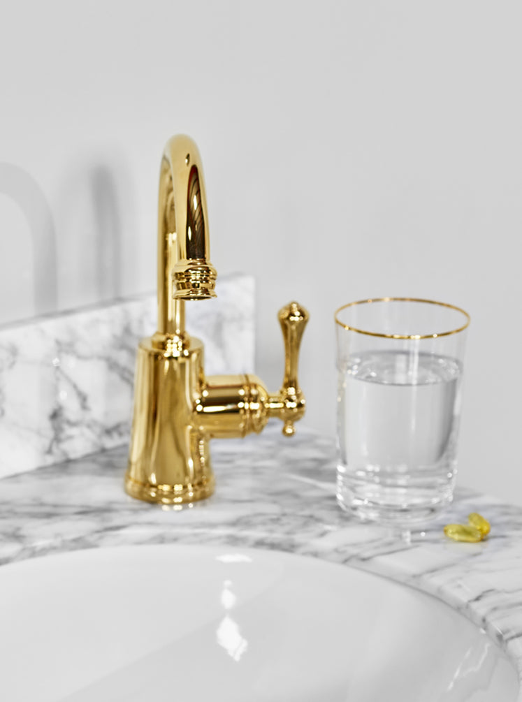 Georgian Basin Mixer Gold