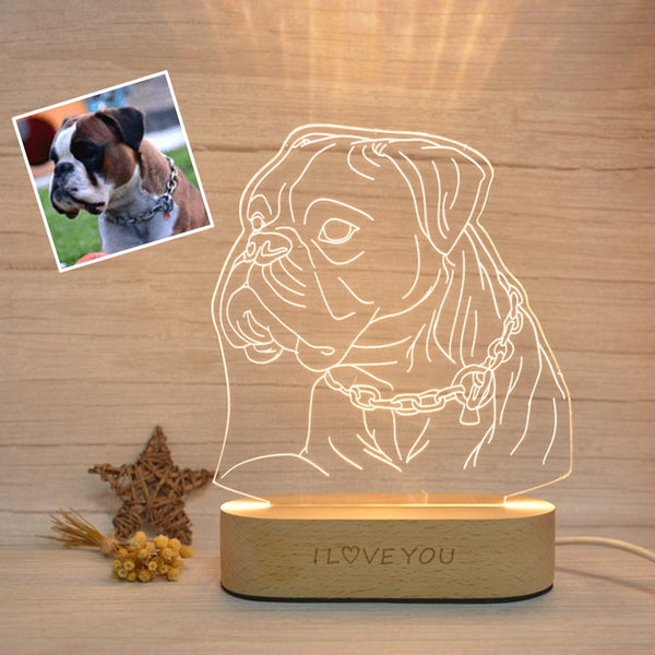 Photo Customized 3D Wooden Night Light