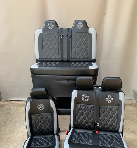 VW T5 T6 Front seats and 3/4 M1 Gas assisted RnR bed (FULL SET)