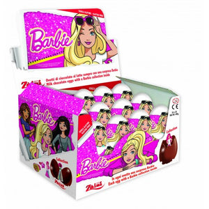 ZAINI BARBIE MILK CHOCOLATE EGGS 20G X 24 UNITS