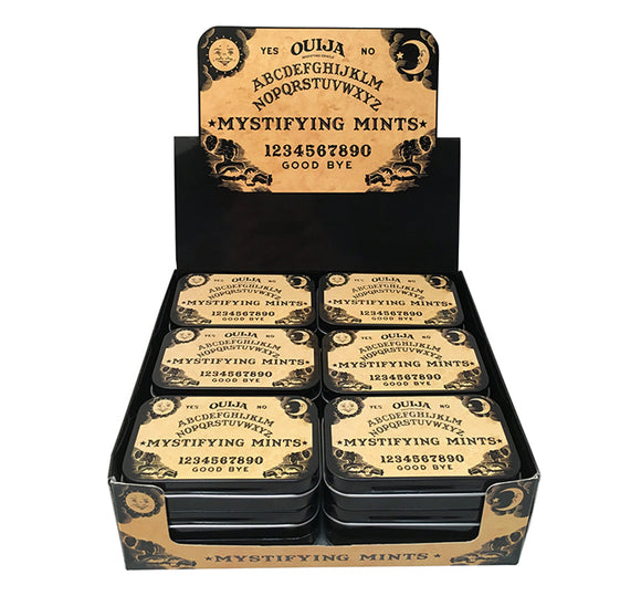BOSTON AMERICA - OUIJA - MYSTIFYING MINTS TIN X 18 UNITS
