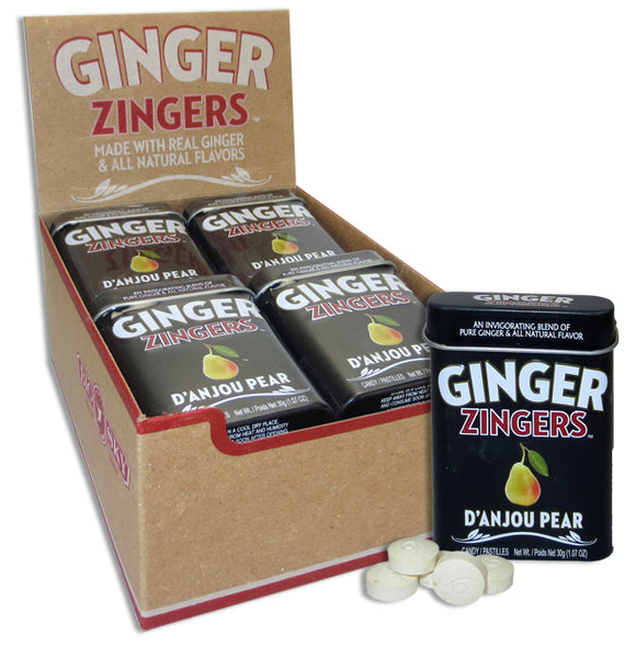 GINGER DELIGHTS TIN - D'ANJOU PEAR X 12 UNITS