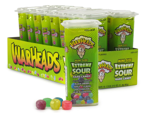WARHEADS JUNIORS SOUR HARD CANDY (X18 UNITS)