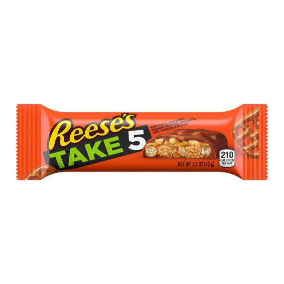 HERSHEY REESE TAKE 5 - STANDARD SIZE BARS 1.5 OZ X 18 UNITS