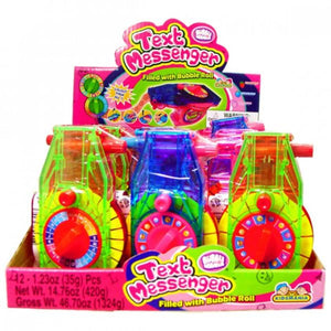KIDSMANIA TEXT MESSENGER FILLED WITH BUBBLE ROLL 12 UNITS