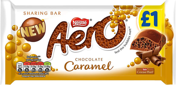 AERO GIANT BAR CARAMEL 100G X 15 UNITS