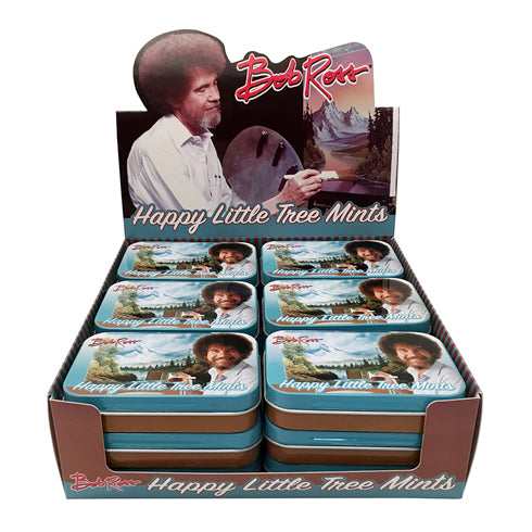 BOSTON AMERICA - BOB ROSS TREE MINTS X 18 UNITS