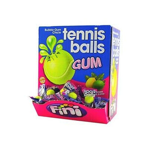 UK FINI TENNIS BALLS LIQUID FILLED BUBBLEGUM X 200 UNITS