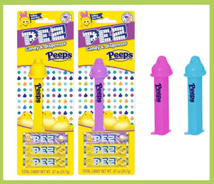 PEZ BLISTER - EASTER PEEPS ASSORTMENT X 12 UNITS