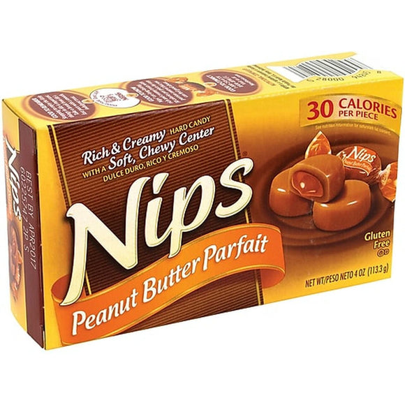 THEATER BOX - NIPS PEANUT BUTTER PARFAIT 4 OZ X 12 UNITS