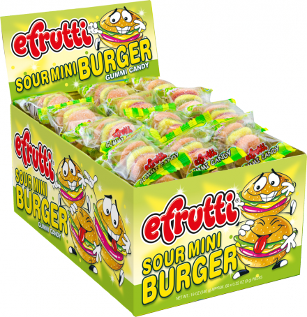 EFRUTTI GUMMI SOUR MINI BURGER  60 UNITS